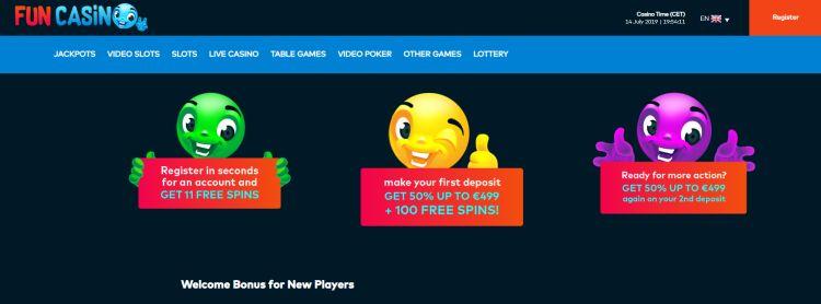Fun casino review welcome bonus