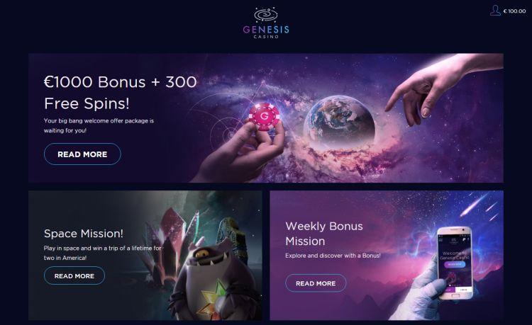 Genesis casino review welcome bonus
