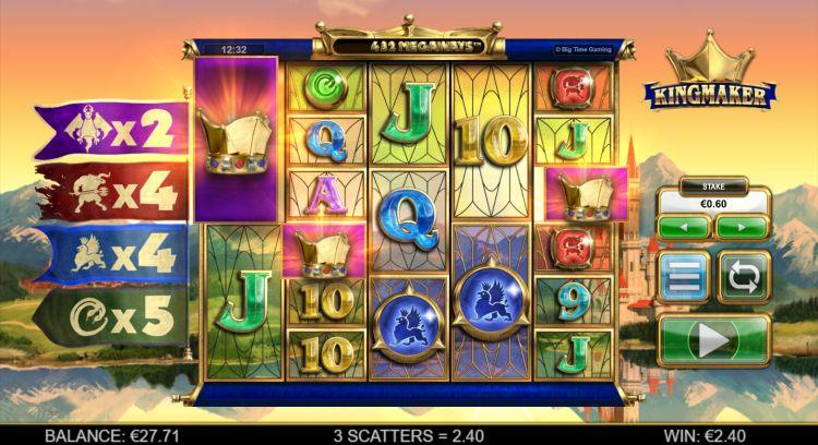 Kingmaker slot review Big Time Gaming bonus trigger 2