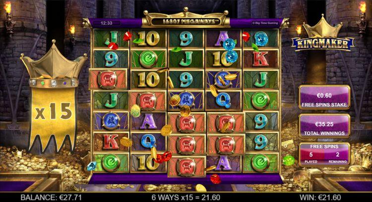 Kingmaker slot review Big Time Gaming bonus win