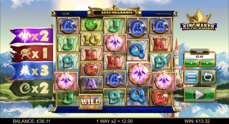 Kingmaker slot review Big Time Gaming bonus trigger