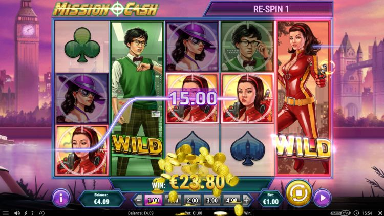 Mission Cash slot review free spins win