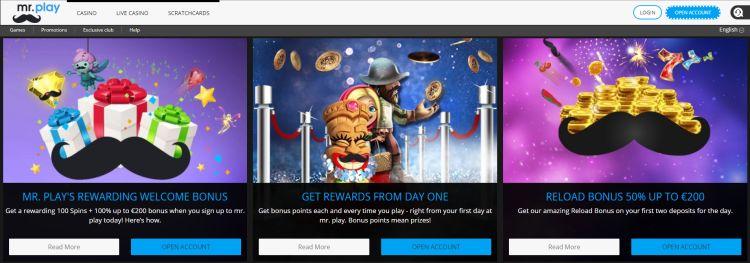 mr play casino review welcome bonus