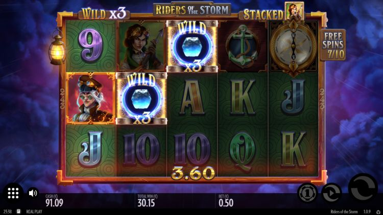 Riders of the storm slot thunderkick win