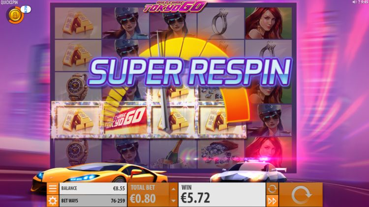 Wild Chase Tokyo Go slot review super respin