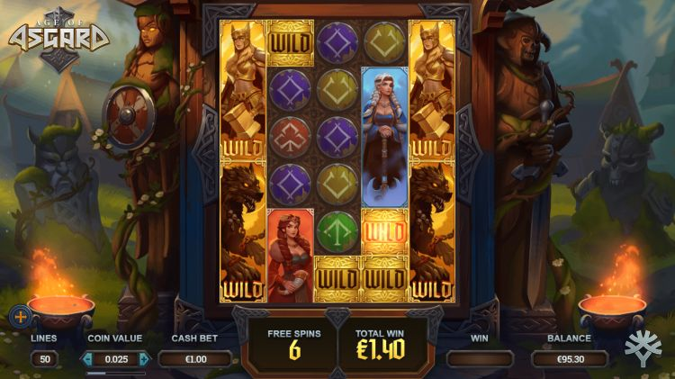 Age of Asgard free spins win