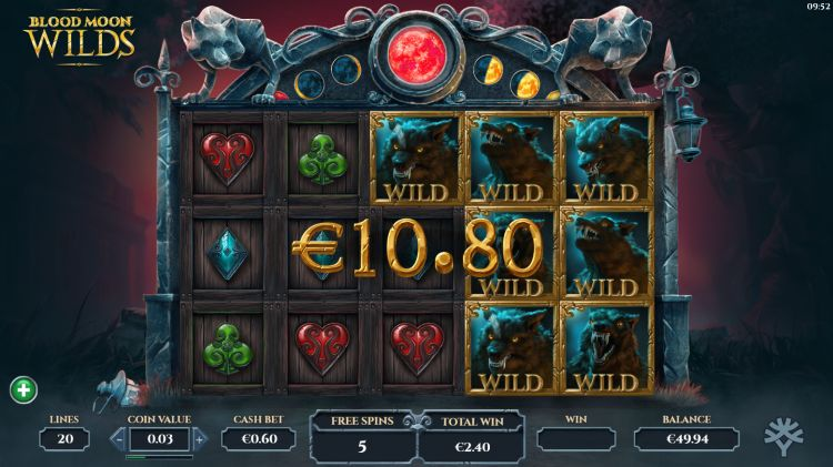 Blood Moon Wilds slot bonus win
