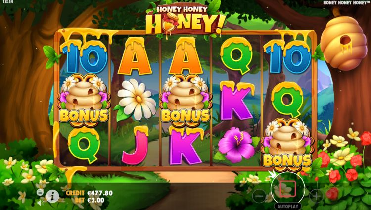 Honey Honey Honey slot review bonus trigger