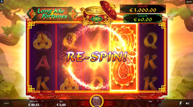 Long Mu Fortunes slot review respin