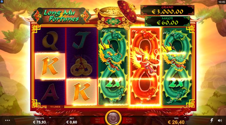 Long Mu Fortunes slot review respin win