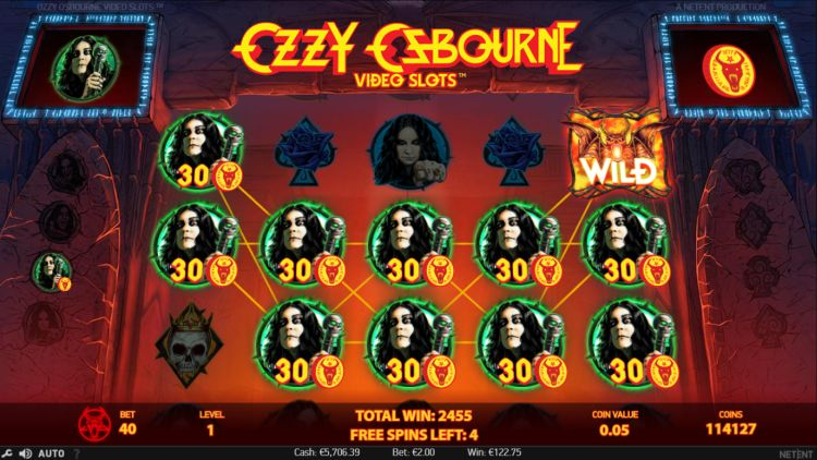 Ozzy Osbourne slot review netent big win