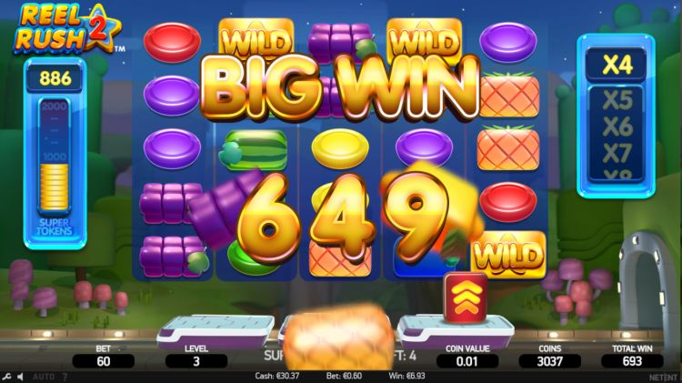 Reel Rush 2 slot review win 2