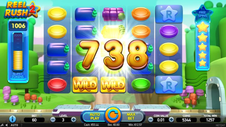 Reel Rush 2 slot review win free spins trigger