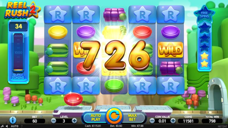 Reel Rush 2 slot review win netent