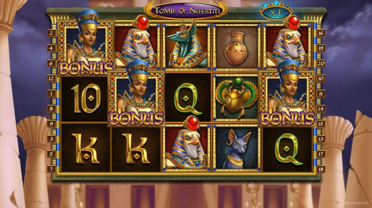 Tomb of Nefertiti slot nolimit city bonus trigger