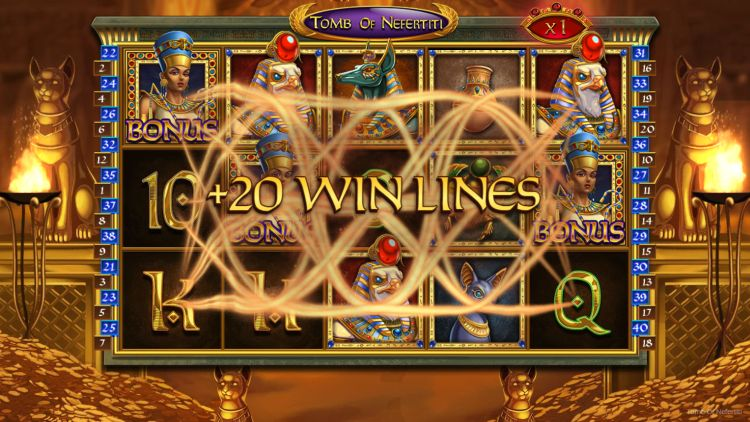 Tomb of Nefertiti slot nolimit city free spins bonus
