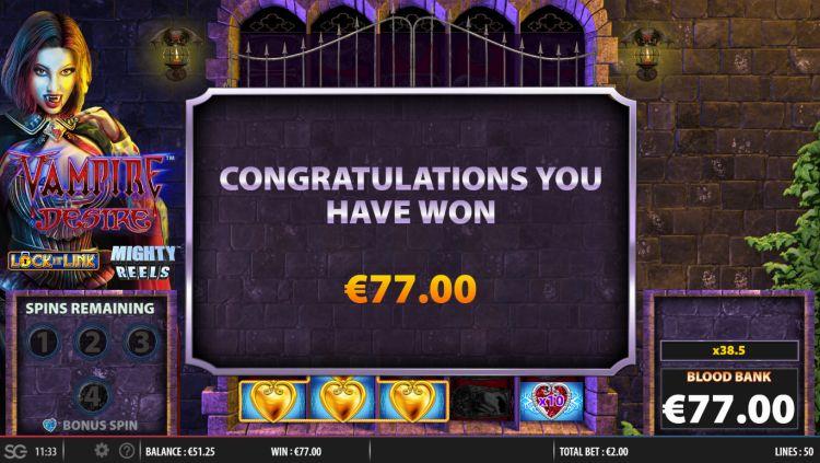 Vampire desire lock it link slot big win