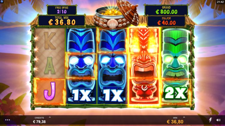 Tiki Mania slot review microgaming free spins big win